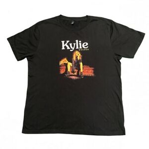 KYLIE MINOGUE Golden 2018 Tour T Shirt Band Concert Short Sleeve Black Large L