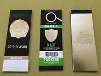 2020 Las Vegas Raiders & 2019 Oakland Full Season & Parking Ticket Stub Books