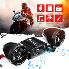 Motorcycle Audio Stereo Radio Sound System Speaker FM TF MP3 Player Amplifier US