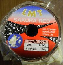 monofilo per teminali sakura red dia0.10 m100 ba103
