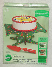 Wilton SPORTS CAKE STAND w/ Server 1510-138 Basketball Football NEW Birthday
