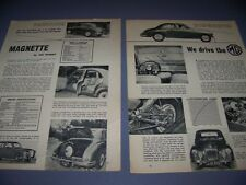 VINTAGE..MG MAGNETTE CAR..PECS/PHOTOS..RARE! (899)