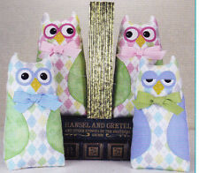 PATTERN - Who's Books - cute fabric owl bookends PATTERN
