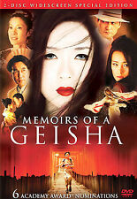Memoirs of a Geisha (DVD, 2006, 2-Disc Set, Widescreen)