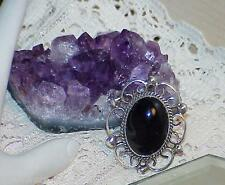 Sterling & Onyx Pin or Pendant Mexico Mid Century Antique Vintage High End