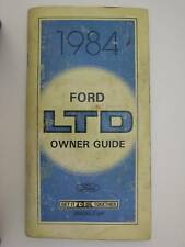 1984 Ford Ltd Oem Owner Guide Owners Manual