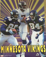 Minnesota Vikings Collage Moss Carter Cunningham 16x20 Starline Poster OOP