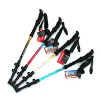 Trekking Walking Hiking Sticks Poles Adjustable Alpenstock Anti-shock 3-section