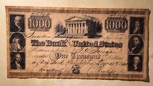***FANTASY*** USA Bank of United States 1000 Dollars 1840 New York Banknote