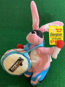 ENERGIZER BUNNY 1997 Advertising Promotional Bean Bag Plush New with Mint Tag!