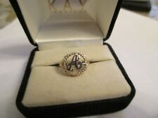10K Gold Initial A Ring  13 MM Wide  Size 5.75