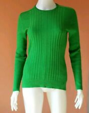VINTAGE GIVENCHY RIBBED LONG SLEEVED KNIT TOP GREEN M