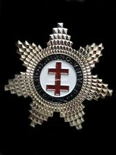 masonic regalia- MASONIC JEWELS-(KT) KNIGHTS TEMPLAR PRECEPTOR  STAR JEWEL (NEW)
