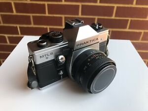 A Vintage Praktica Camera With Case And Strap Old Camera Old Photograph Accessories  Old Camera Equipment