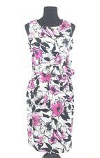 Helene Berman London Dress 10 Black Pink Floral Bow Designer England