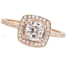 18k Rose Gold GIA Certified 2.20 Carat Cushion cut Diamond Engagement Ring