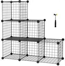 Étagère de rangement fil métallique Cubes 6 cubes pour livre Chaussures jouets vêtements Outils - 04512