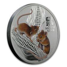 Perth Mint Lunar III Jahr der Maus 2020 Farbe Farbedition 1 oz 999 Silbermünze