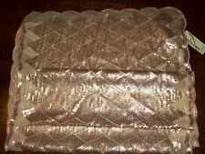 "NWT Collection Eighteen 22"" x 70"" oblong scarf wrap shawl scallop + sequin peach"