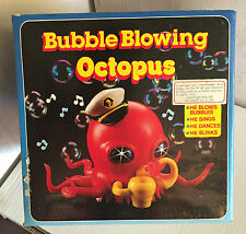 BUBBLE BLOWING OCTOPUS,POLIPO SPARA BOLLE DI SAPONE, VINTAGE NEW!!!