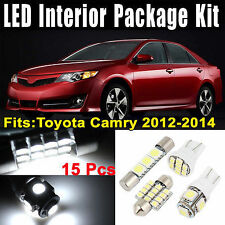 Interior Super Bright Upgrade LED Package Kit Light For Toyota Camry 2012 - 2015