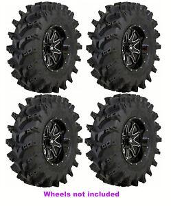 (4) New STI Outback Max 28x9.5x14 28x9.5-14 8-Ply Front / Rear Mud ATV/UTV Tires