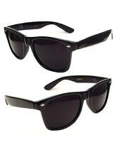 2 Retro Fashion Style Nerd Black Glossy Black Frame Black Lens Sunglasses NEW
