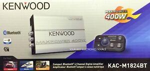 NEW KENWOOD KAC-M1824BT Compact Bluetooth 4-Channel Class D Marine/ATV Amplifier