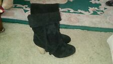 Ladies faux suede ankle high heels boots size 6.5
