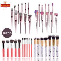 10x Professional Make up Brushes Set Blusher Foundation Eyeshadow Face Powder UK