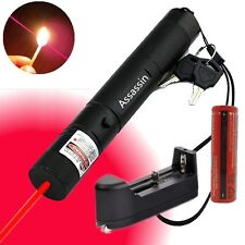10Miles Burning Beam 5mw 650nm Powerful Red Laser Pen Cat Toy+Battery+Charger