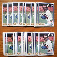 1978 Topps Vic Harris (#436) Lot, 50 Cards - Giants Near Mint - Mint NMMT
