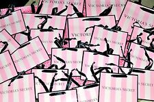 20 Victoria's Secret Shopping Gift Paper Bags Pink Black Ribbon Handle V.S 2017