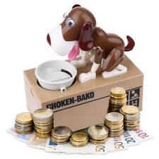 Stealing Dog Style Coin Money Box Piggy Bank Collecting Saving Money Bank Brown