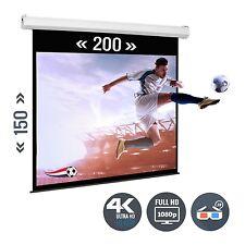 Beamer Leinwand Heimkino Motorleinwand 98 Zoll 200 x 150 / 4:3 Full HD 3D 4K