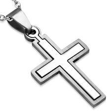Zense - Pendentif homme croix latine en acier deux parties ZP0198