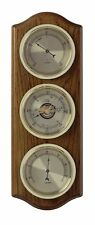 Oak 3 Dial Indoor Analogue Weather Station