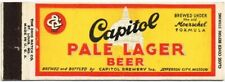 V2 1930s Jefferson City Missouri Capitol Beer Panorama Matchcover TavernTrove
