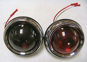 Pontiac Hot Rod Tail Lights Bezel Glass Lens PAIR