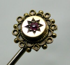 Antique 15 carat Gold And Ruby Stick / Tie Pin