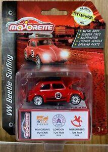 Majorette 2019 Toy Fair Model VW Beetle Surfing Scale 1:64 Diecast Car in stock