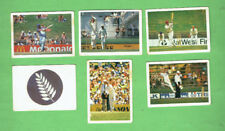 #D411.  9.  SIX(6) 1985-86 DOUBLE TROUBLE CRICKET CARDS, #1, 6, 8, 9, 19 & 59