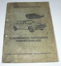 Werkstatthandbuch Opel Kapitän / Admiral / Diplomat B Einspritzanlage 28 E