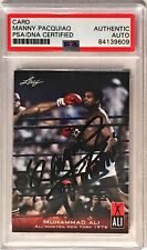 2010 Leaf Muhammad Ali Manny Pacquiao Pacman Signed Trading Card PSA/DNA Slabbed