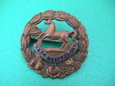 Genuine Kings Regiment Liverpool brass & enamel sweetheart brooch / badge.