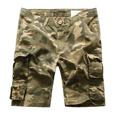 MENS FOXJEANS MAX CAUSAL CAMO MILITARY MEN'S ARMY CARGO WORK SHORTS SIZE 36