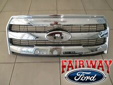 15 thru 17 F-150 OEM Genuine Ford Chrome Grille Mesh Insert Grill w/o Camera NEW