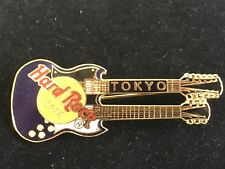 TOKYO PURPLE DOUBLE NECK GUITAR HARD ROCK CAFE PIN