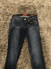LUCKY BRAND Womens CHARLIE SKINNY  Low Rise Jeans Dark Wash Size 0/25 preowned
