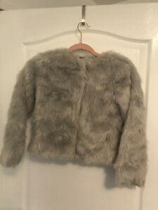Minoti Girls Fur Coat Jacket 3-8 Years